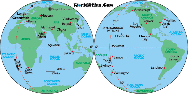 International date line map